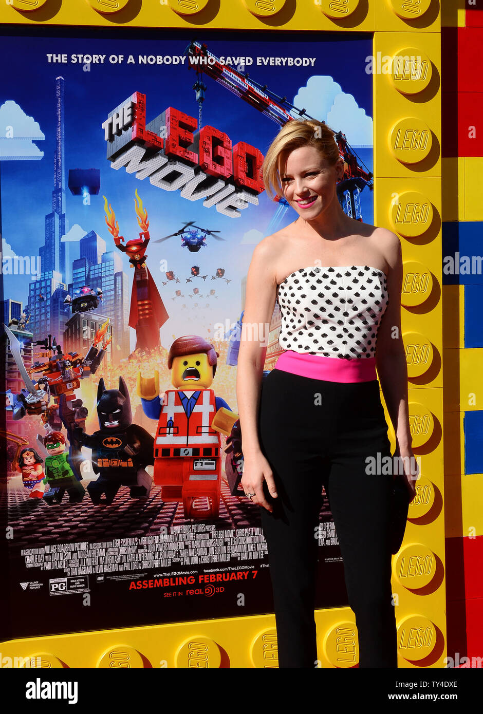 Cast Member Elizabeth Banks The Voice Of Wildstyle Lucy Attends The Premiere Of The Animated Comedy