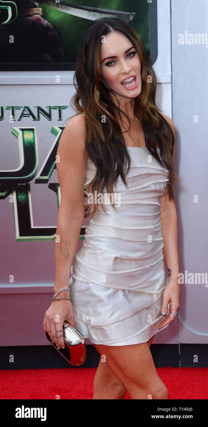 Cast Member Megan Fox Attends The Premiere Of The Motion Picture Sci Fi Fantasy Teenage Mutant Ninja Turtles At The Regency Village Theatre In The Westwood Section Of Los Angeles On August 3