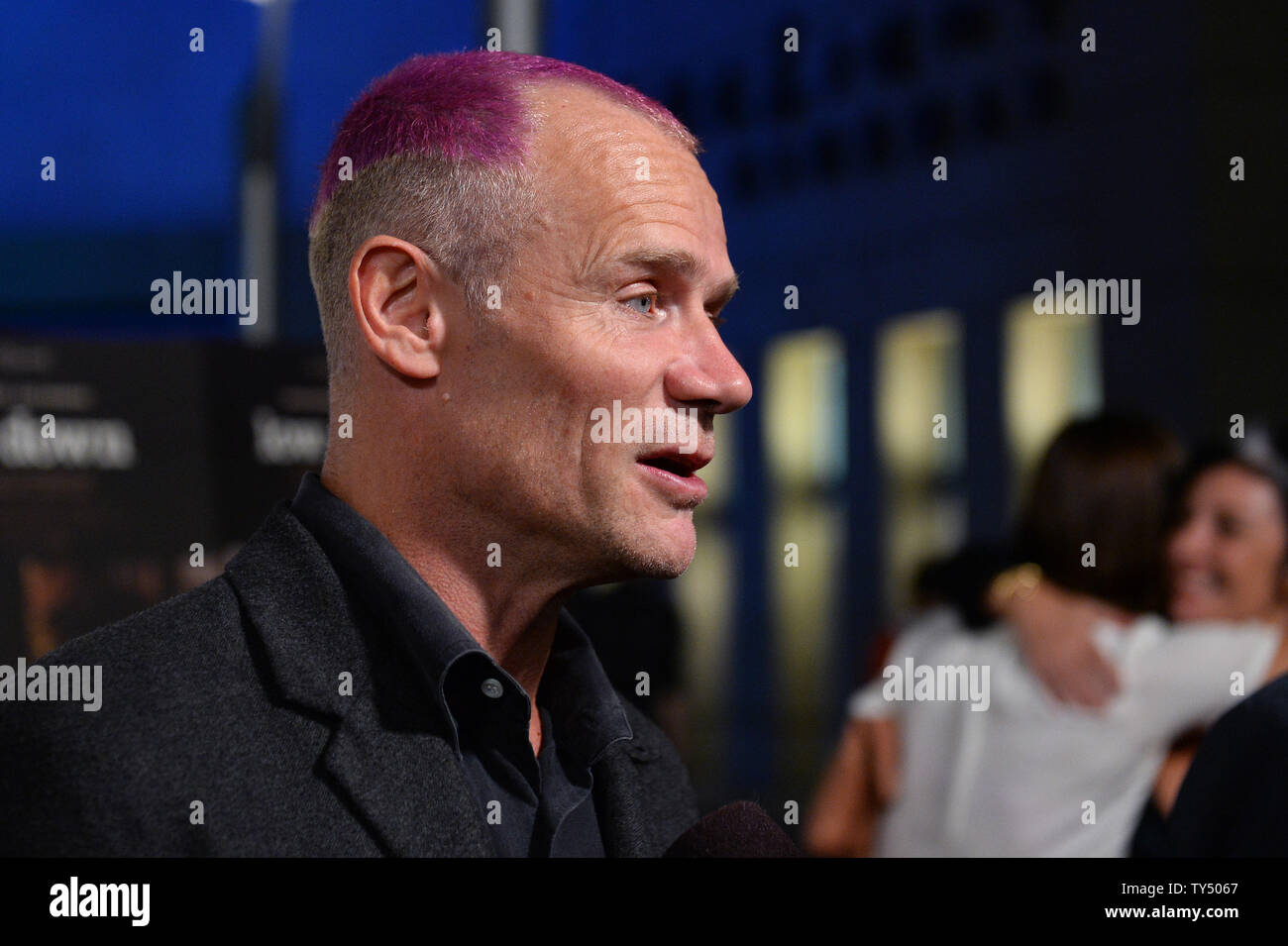 """Cast member Flea attends the premiere of the biographical motion picture drama """"Low Down"""" at the Arclight Cinerama Dome in the Hollywood section of Los Angeles on October 23, 2014. Storyline:  A look at the life of pianist Joe Albany from the perspective of his young daughter, as she watches him contend with his drug addiction during the 1960s and '70s jazz scene.  UPI/Jim Ruymen Stock Photo"""