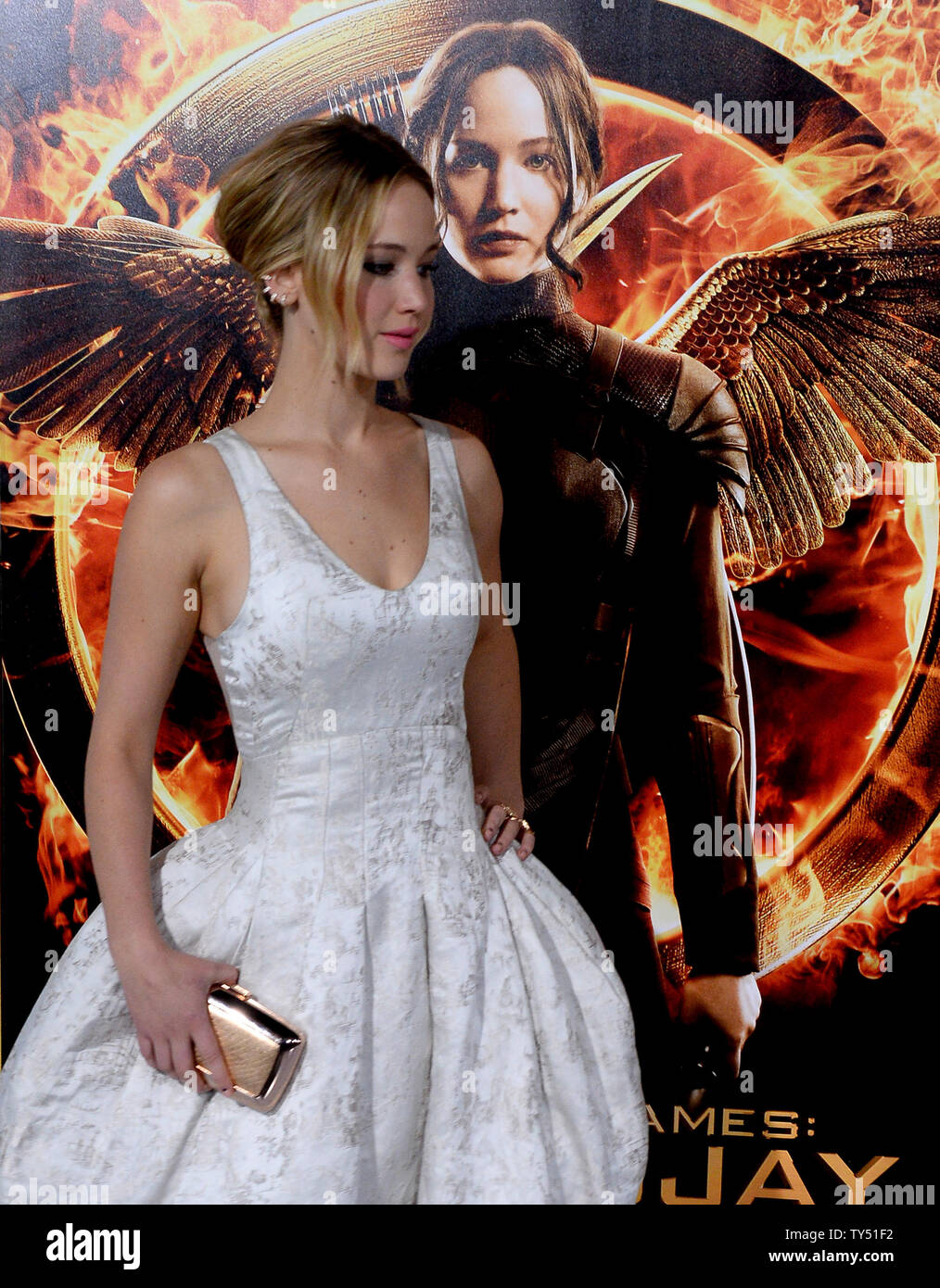 Actress Jennifer Lawrence Attends The Premiere Of The Sci Fi