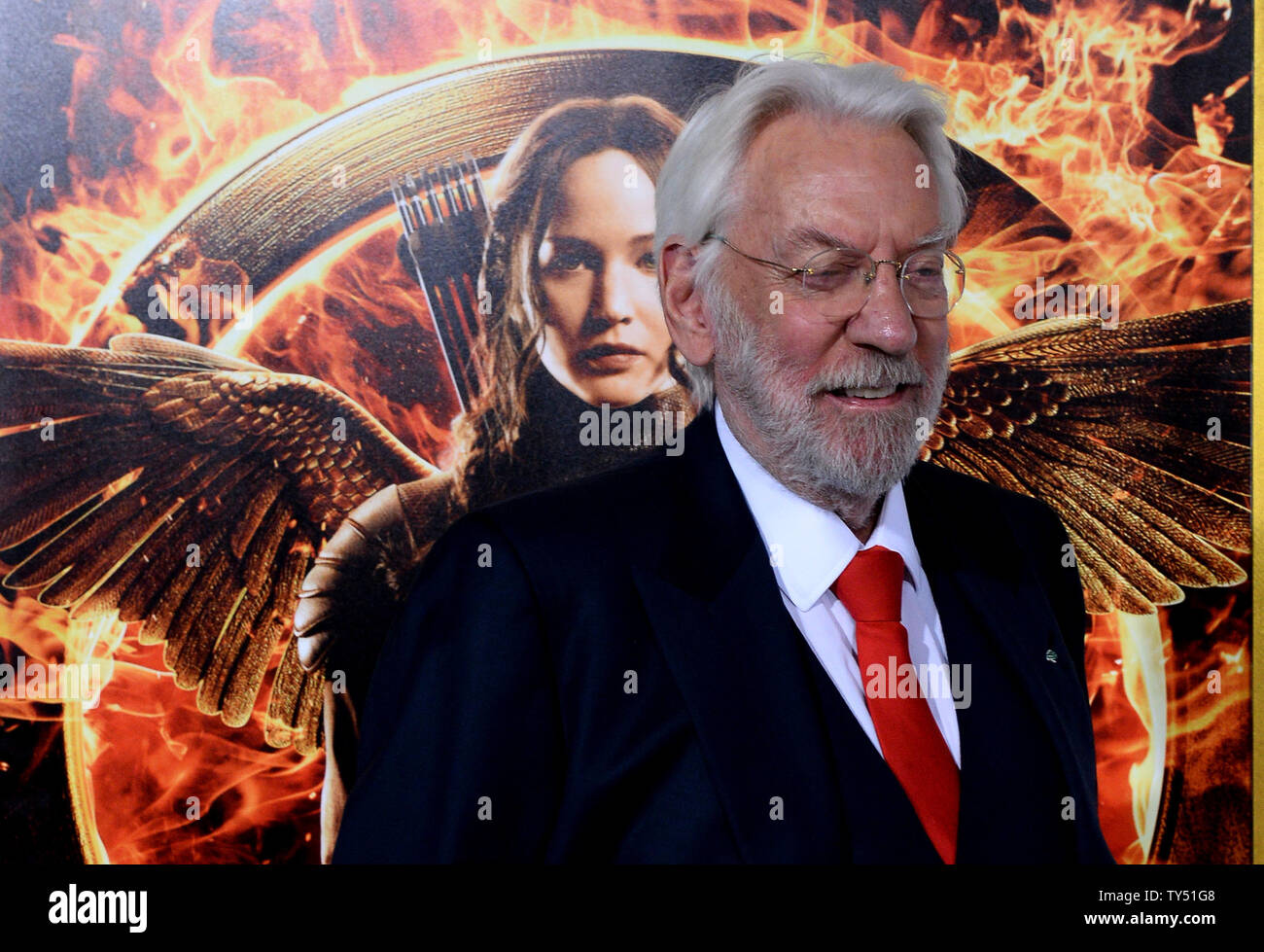 Actor Donald Sutherland Attends The Premiere Of The Sci Fi Motion