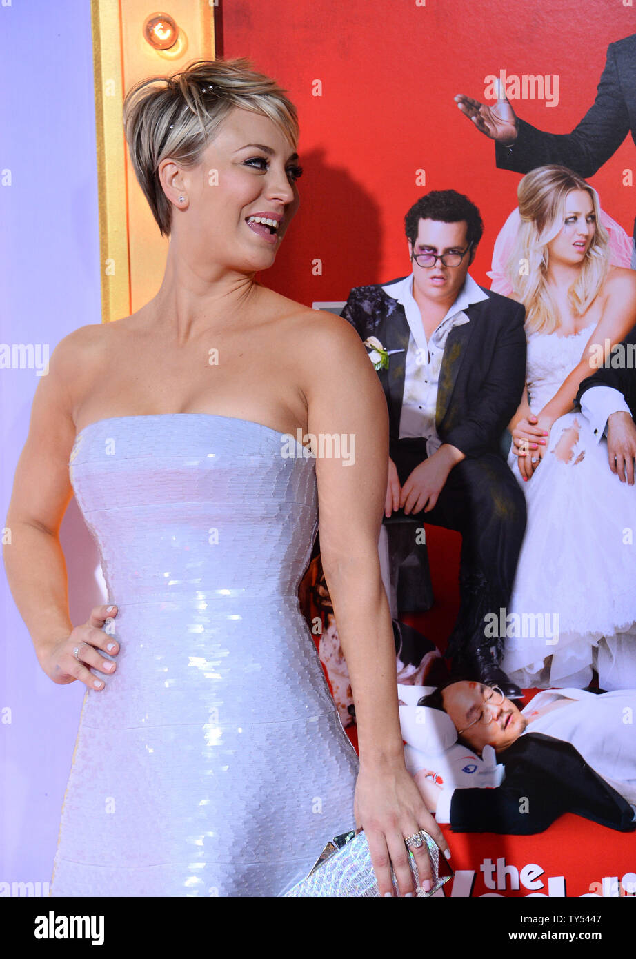 Wedding Ringer Cast.Cast Member Kaley Cuoco Attends The Premiere Of The Motion Picture