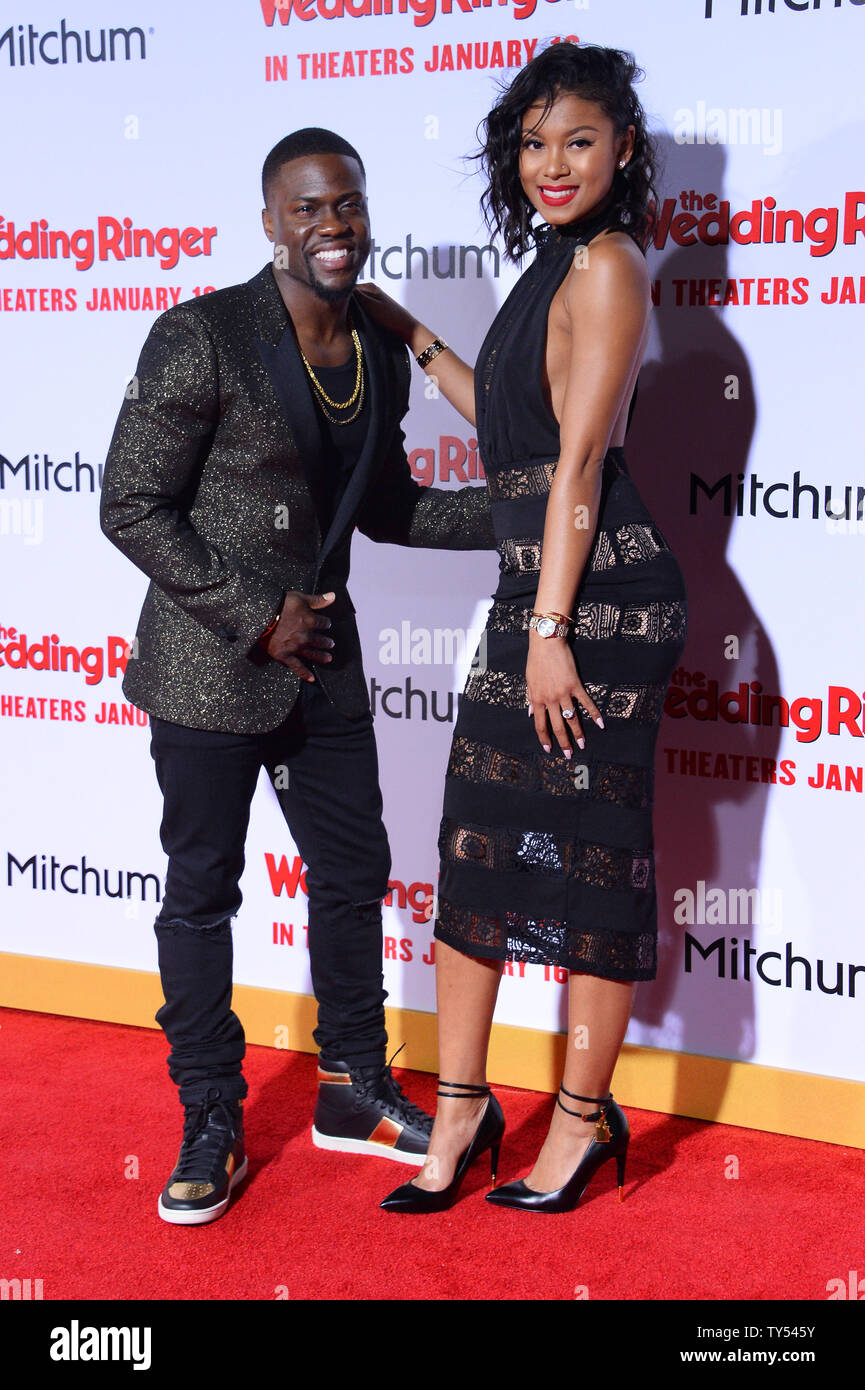 Wedding Ringer Cast.Cast Member Kevin Hart And His Girlfriend Eniko Parrish Attend The