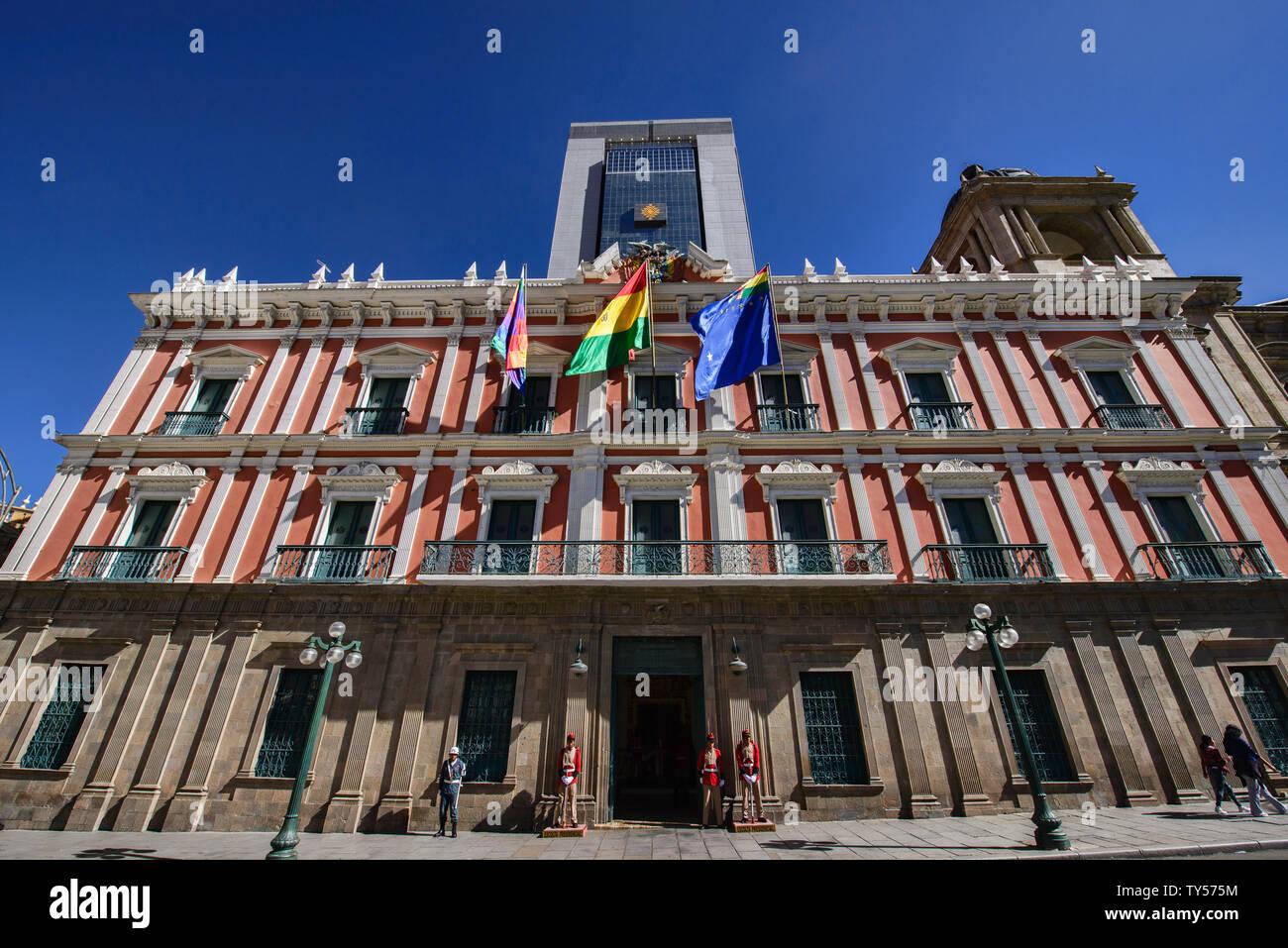 The Palacio Quemado official government residence, La Paz, Bolivia Stock Photo