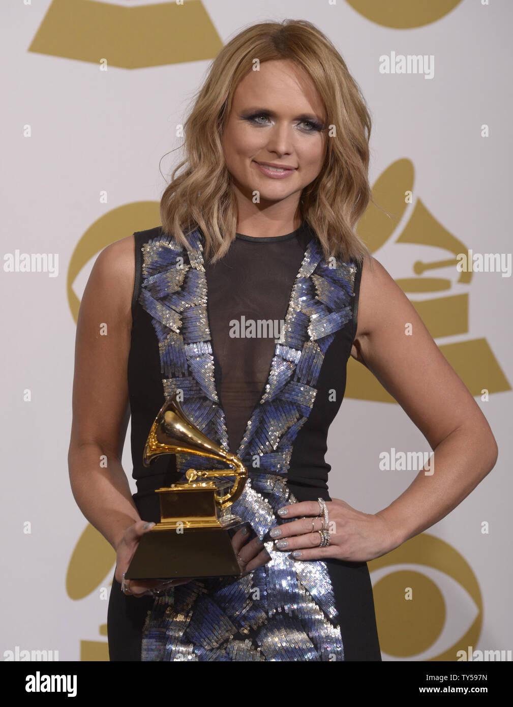 Singer Songwriter Miranda Lambert Winner Of Best Country Album For Platinum Poses Backstage During The 57th