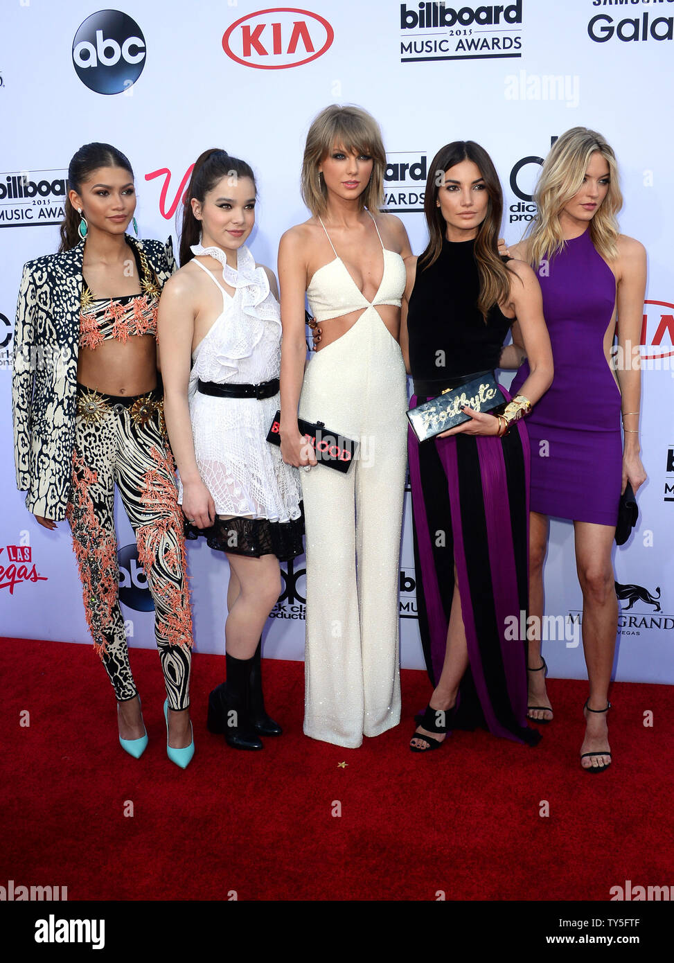L R Zendaya Hailee Steinfeld Taylor Swift Lily Aldridge And Martha Hunt Attend The Billboard Music Awards Held At The Mgm Grand Garden Arena In Las Vegas Nevada On May 17 2015 Photo