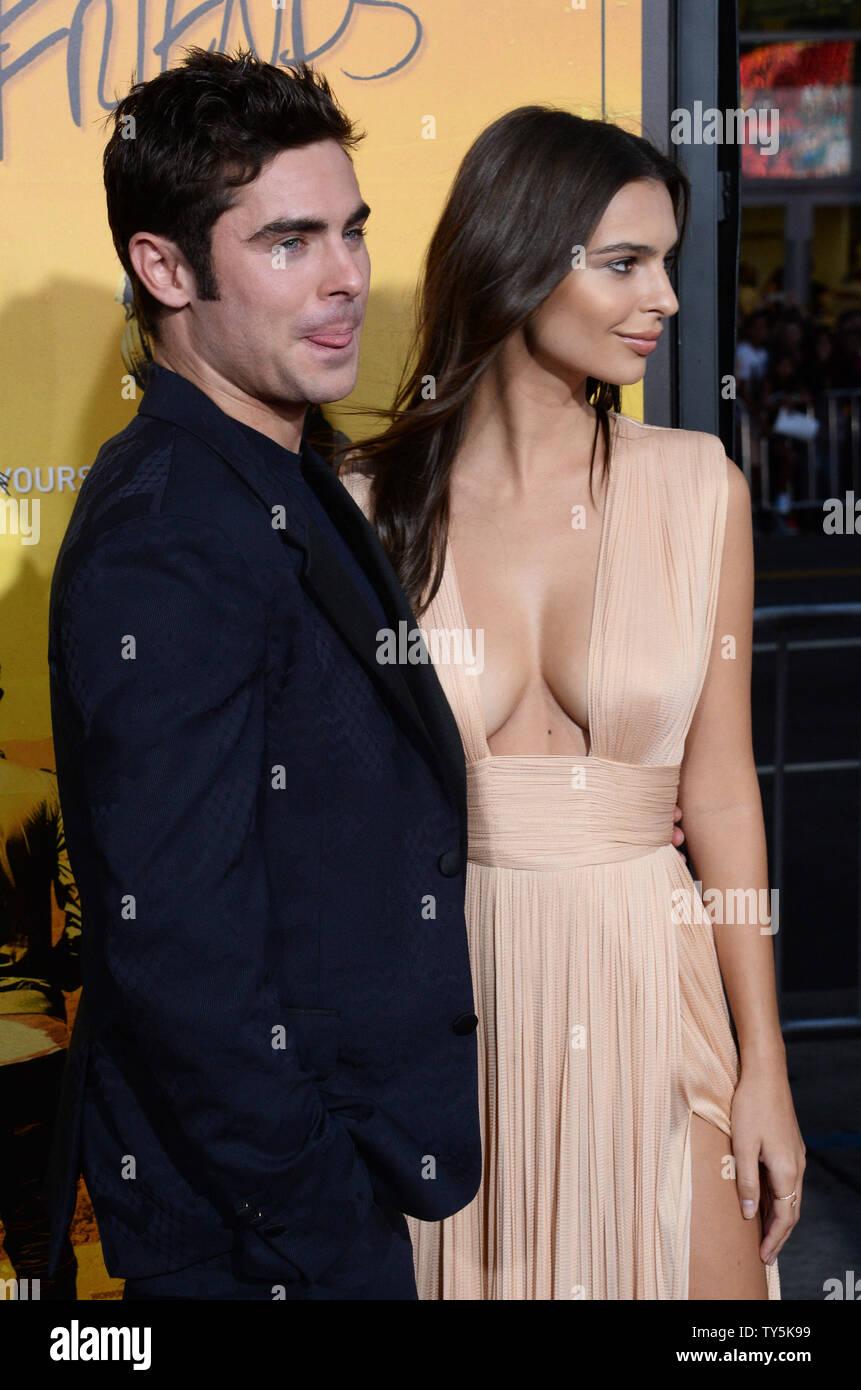 Cast members Zac Efron and Emily Ratajkowski attend the