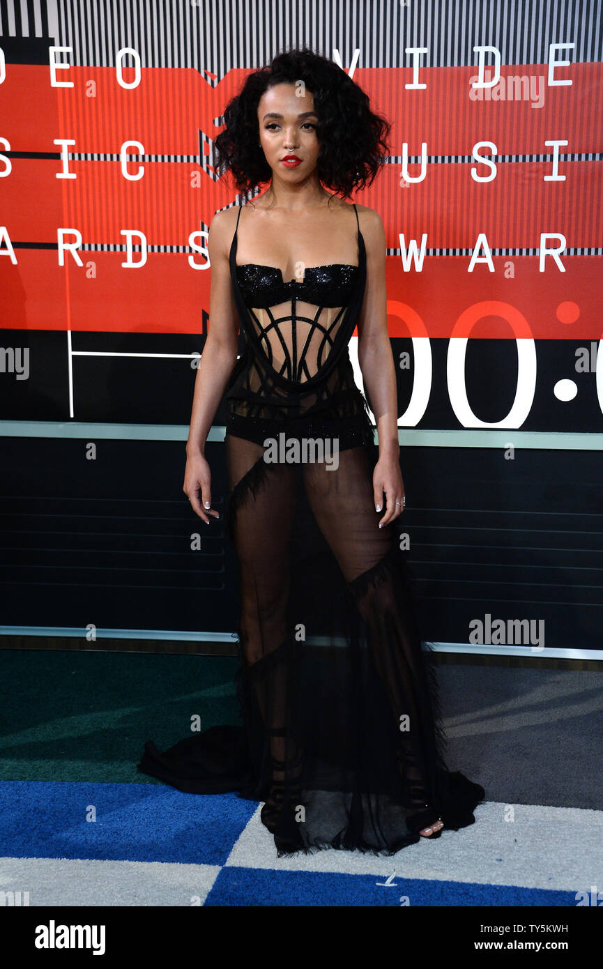 Musician FKA Twigs arrives on the red carpet for the 32nd annual MTV Video Music Awards at Microsoft Theater in Los Angeles on August 30, 2015. Photo by Jim Ruymen/UPI - Stock Image