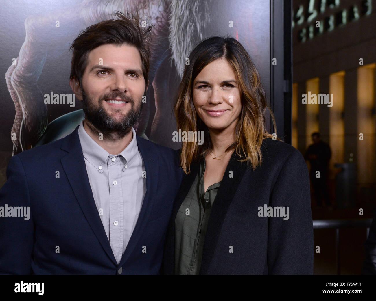 The Spirit Of Christmas Cast.Cast Member Adam Scott And His Wife Writer Naomi Scott