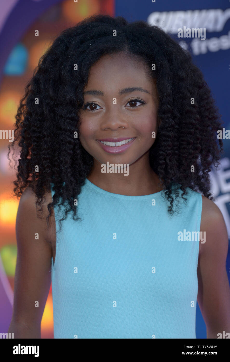 Actress Skai Jackson attends the premiere of the animated