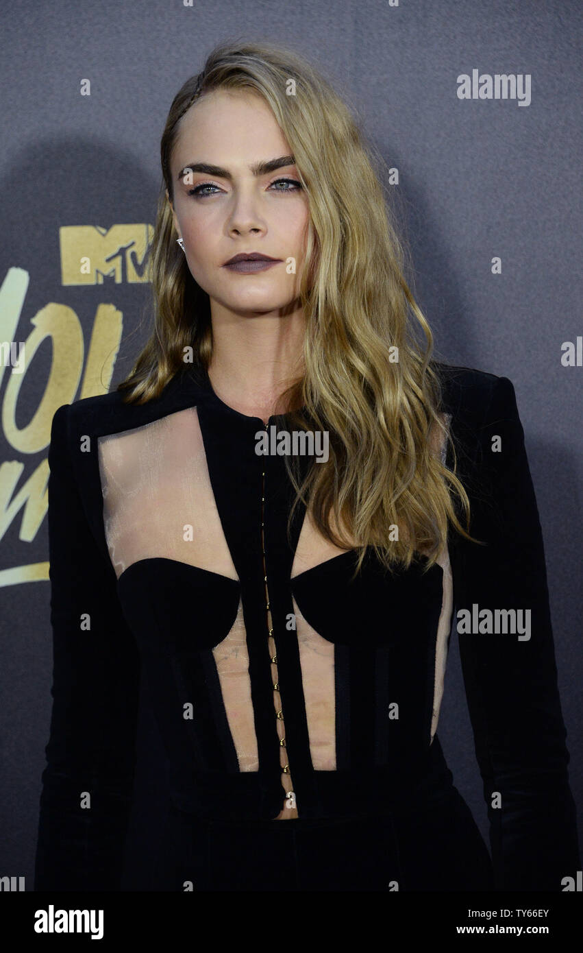Actress Cara Delevingne Attends The Mtv Movie Awards At Warner Bros Studios In Burbank California On April 9 2016 The Mtv Movie Awards Airs Sunday April 10 At 8pm Et Pt Photo By