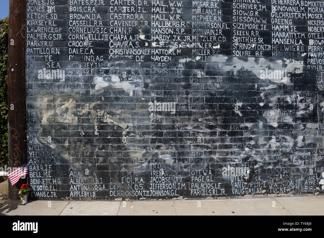 Vietnam War Memorial Defaced High Resolution Stock Photography And Images Alamy