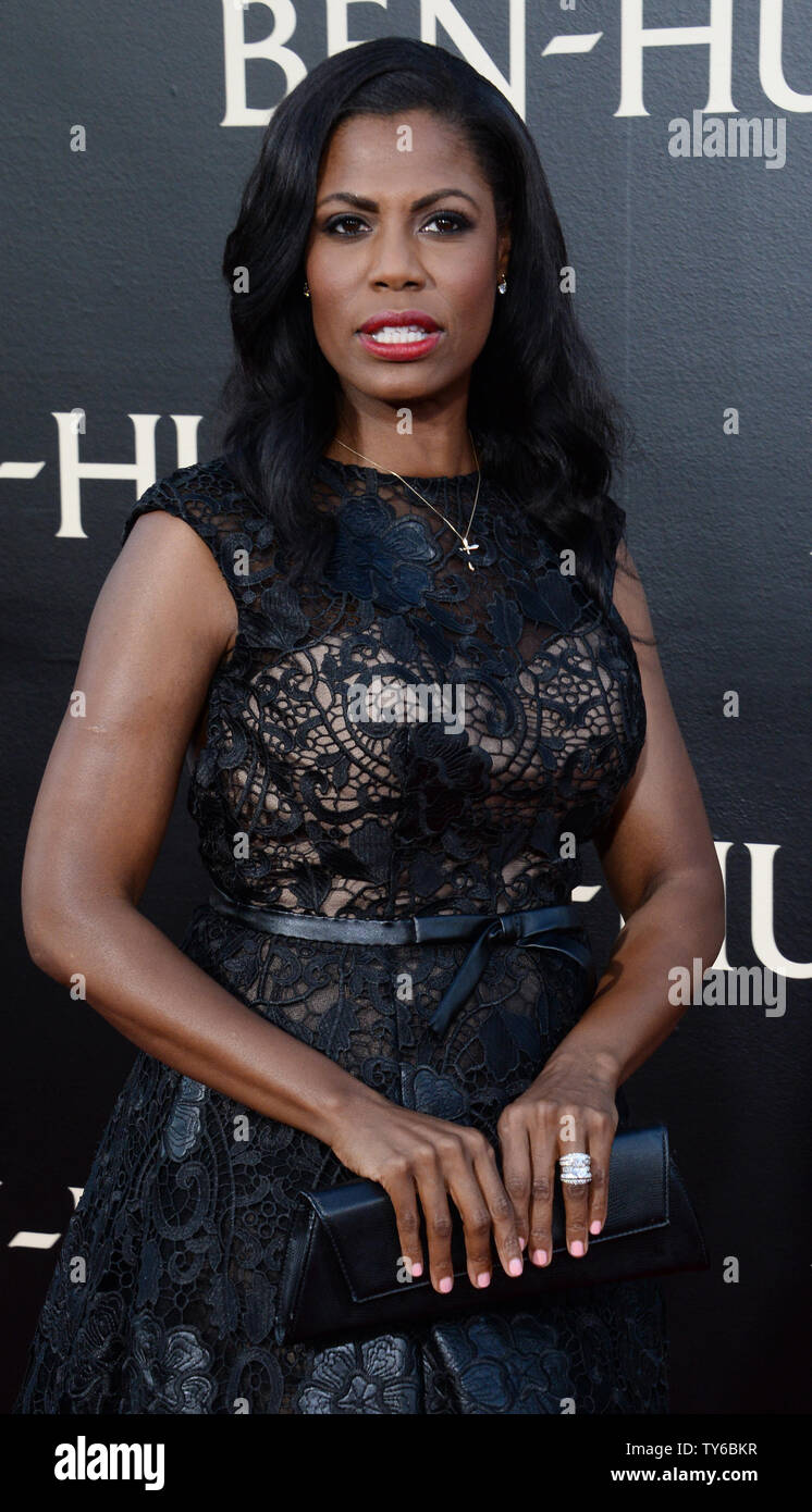 In a trailer released Tuesday for a new PBS documentary about the 2016 election, Donald Trump protŽgŽ Omarosa Manigault suggests an important motivation for him running for president is that all those who oppose Trump would have to 'bow down' to him if he wins. Mangauflt is pictured attending the 'Ben-Hur' premiere in Los Angeles on August 16, 2016. The PBS documentary is set to air Sept. 27.  File photo by Jim Ruymen/UPI - Stock Image