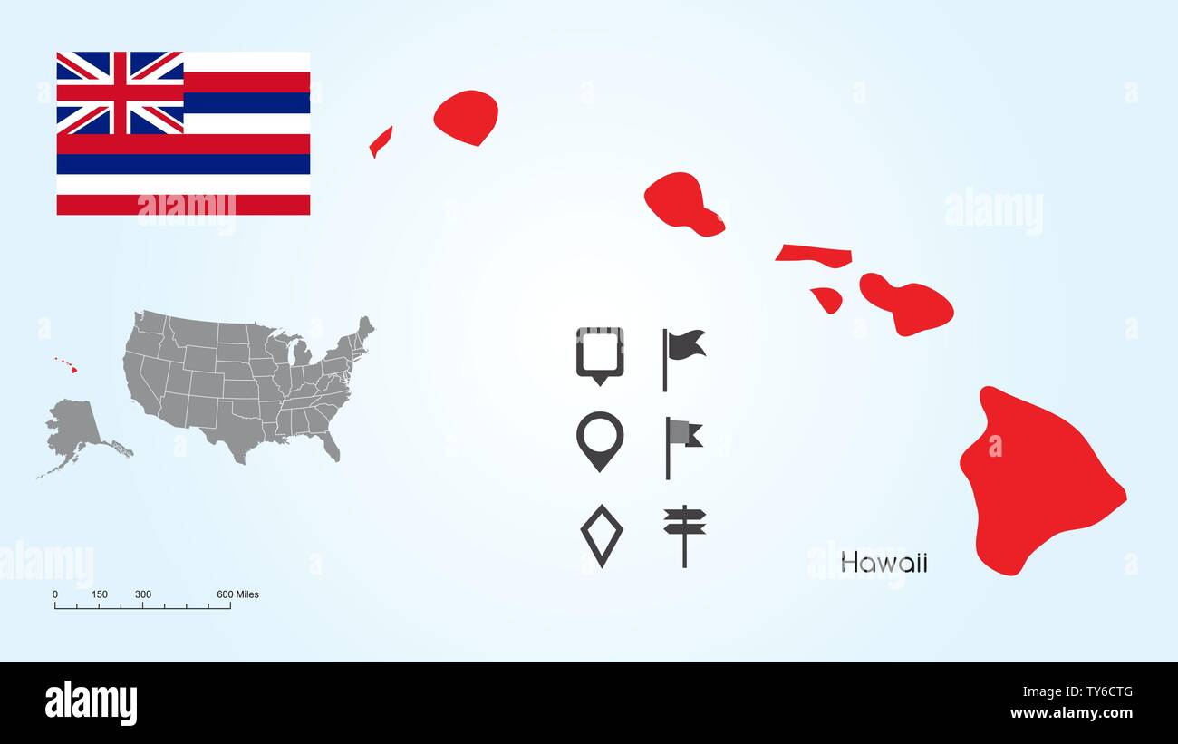 Picture of: Political Map Hawaii High Resolution Stock Photography And Images Alamy
