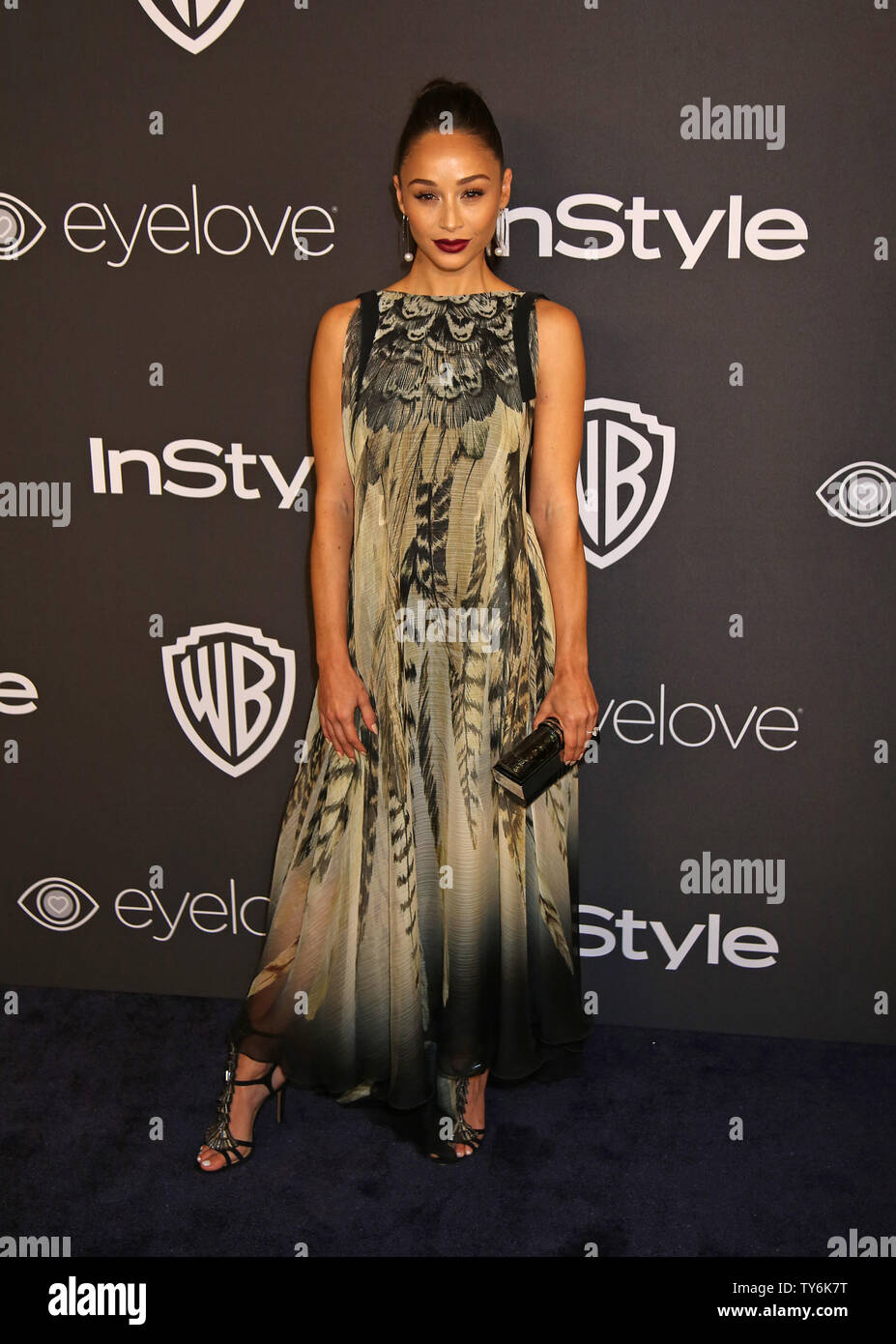 Cara Santana attends the 18th annual InStyle and Warner Bros. Golden Globe after-party at the Beverly Hilton Hotel in Beverly Hills, California on January 8, 2017.  Photo by David Silpa/UPI - Stock Image