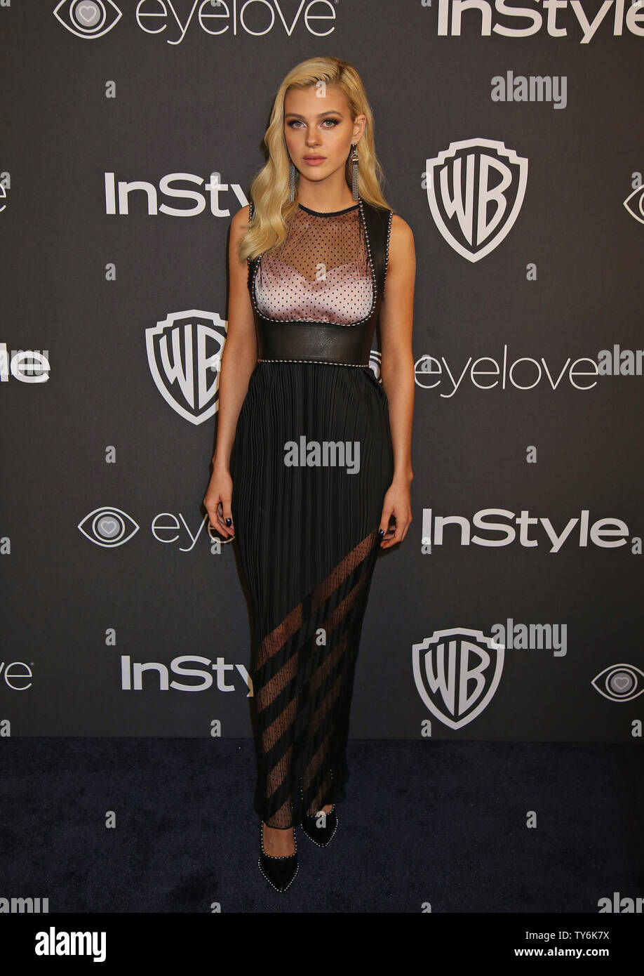 Nicola Peltz attends the 18th annual InStyle and Warner Bros. Golden Globe after-party at the Beverly Hilton Hotel in Beverly Hills, California on January 8, 2017.  Photo by David Silpa/UPI - Stock Image