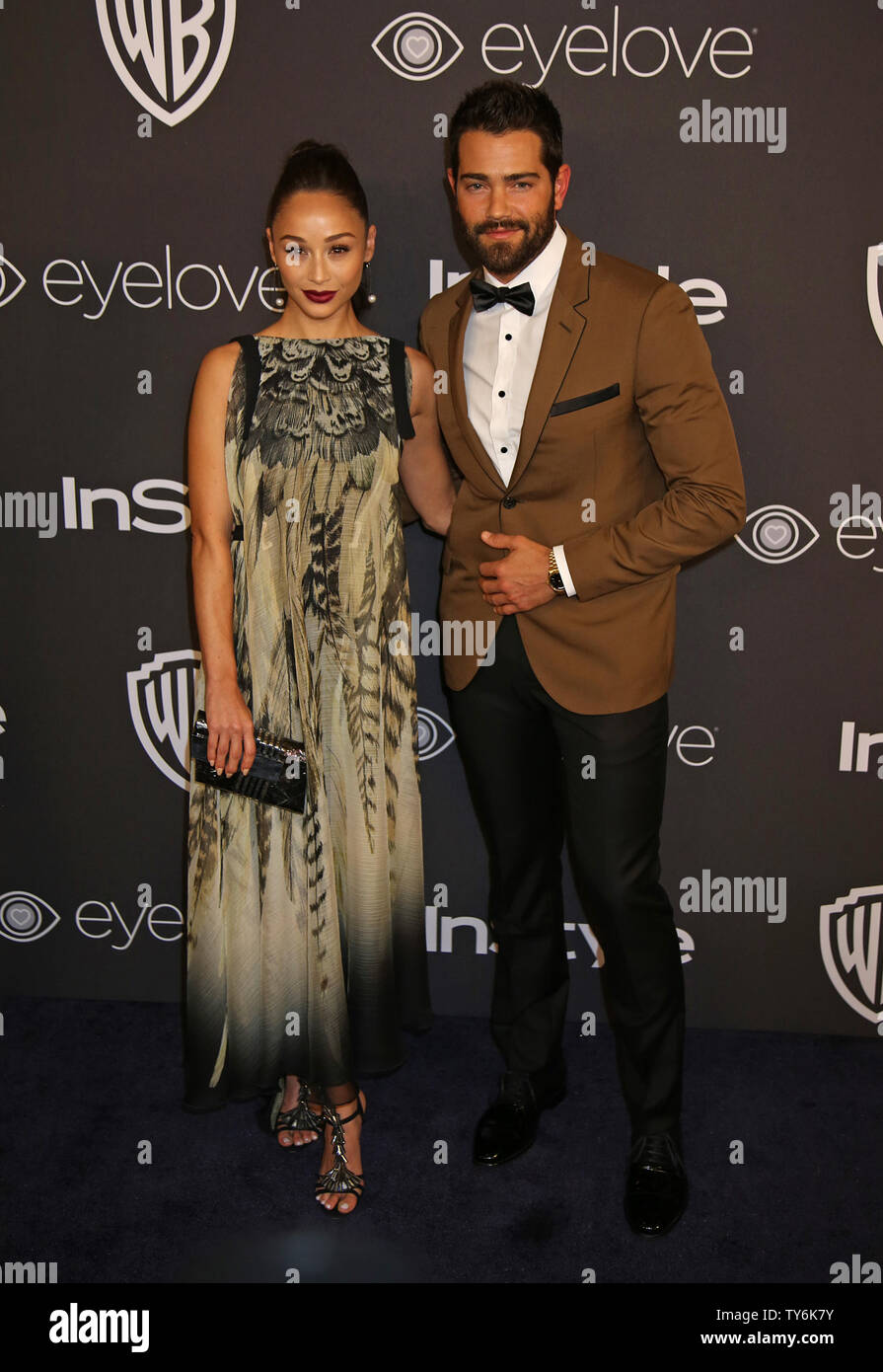 Cara Santana (L) and Jesse Metcalfe attend the 18th annual InStyle and Warner Bros. Golden Globe after-party at the Beverly Hilton Hotel in Beverly Hills, California on January 8, 2017.  Photo by David Silpa/UPI - Stock Image