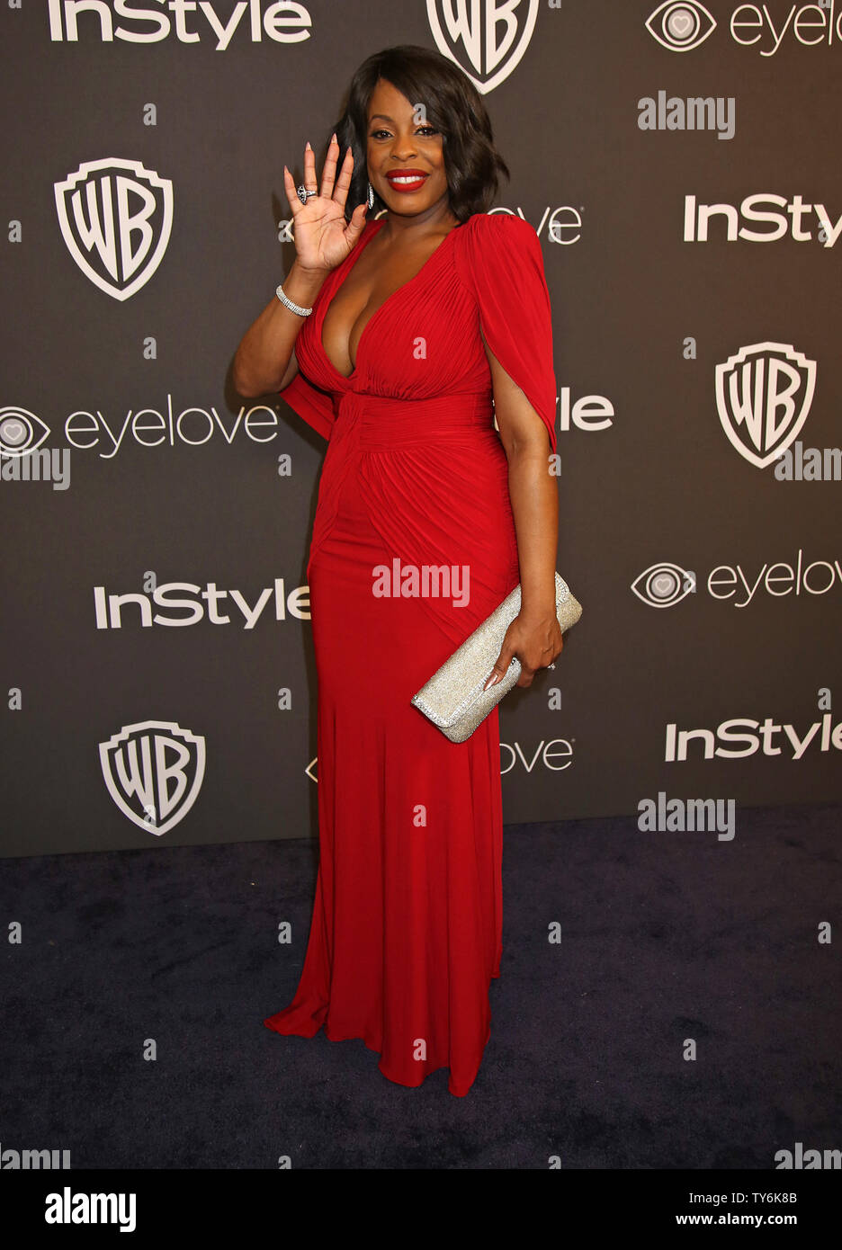 Niecy Nash attends the 18th annual InStyle and Warner Bros. Golden Globe after-party at the Beverly Hilton Hotel in Beverly Hills, California on January 8, 2017.  Photo by David Silpa/UPI - Stock Image