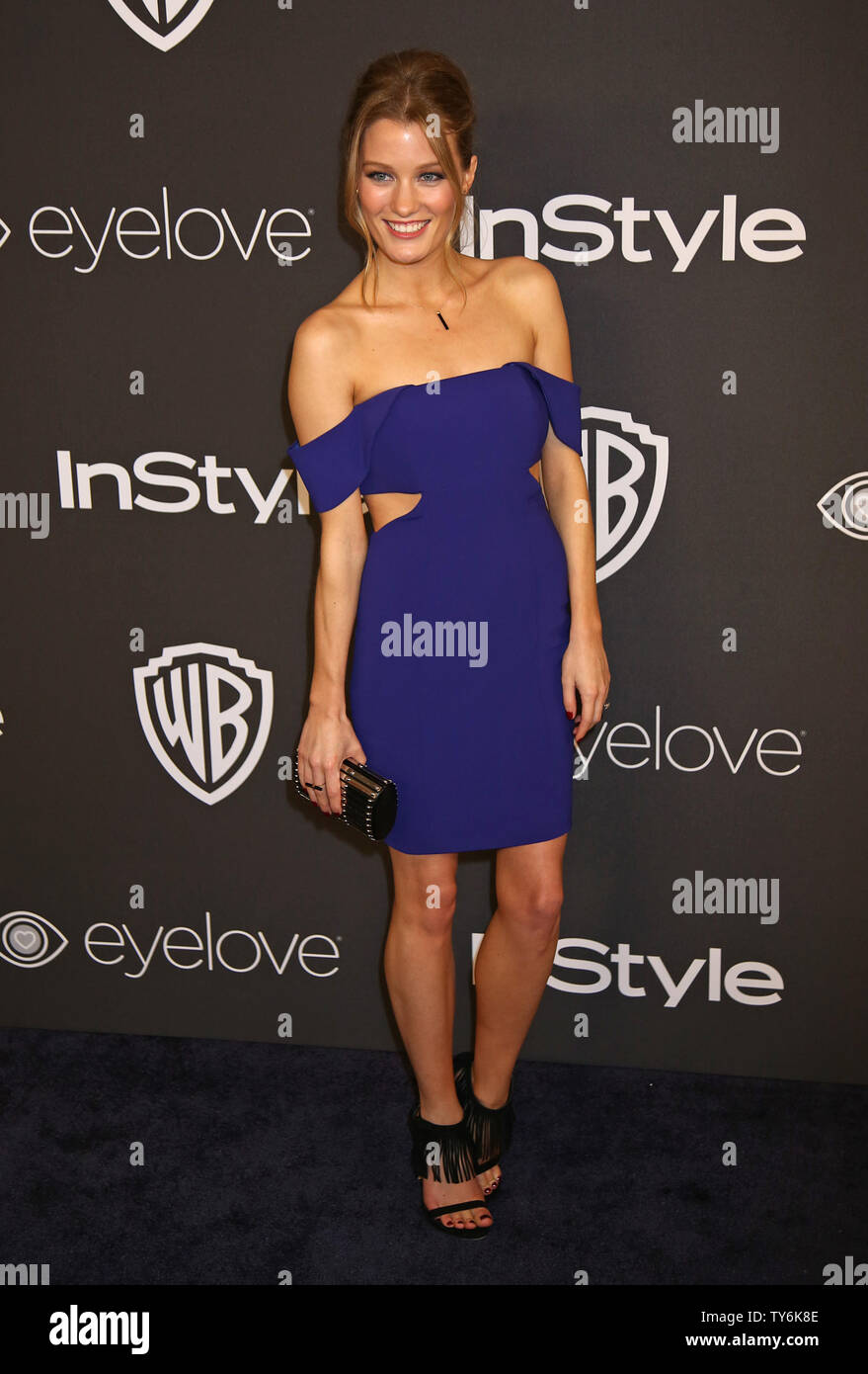 Ashley Hinshaw attends the 18th annual InStyle and Warner Bros. Golden Globe after-party at the Beverly Hilton Hotel in Beverly Hills, California on January 8, 2017.  Photo by David Silpa/UPI - Stock Image