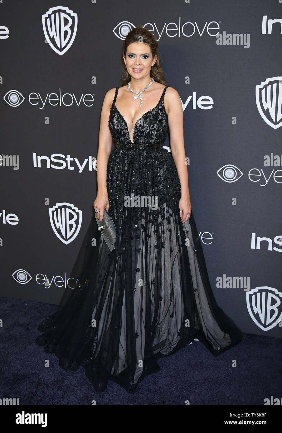 Carly Steel attends the 18th annual InStyle and Warner Bros. Golden Globe after-party at the Beverly Hilton Hotel in Beverly Hills, California on January 8, 2017.  Photo by David Silpa/UPI - Stock Image