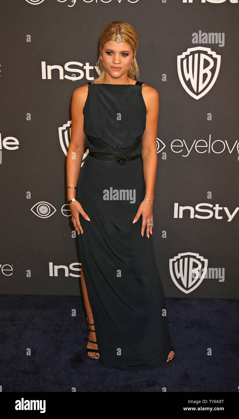 Sofia Richie attends the 18th annual InStyle and Warner Bros. Golden Globe after-party at the Beverly Hilton Hotel in Beverly Hills, California on January 8, 2017.  Photo by David Silpa/UPI - Stock Image