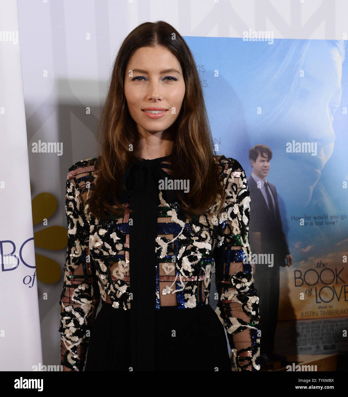 Cast member Jessica Biel attends the premiere of the motion