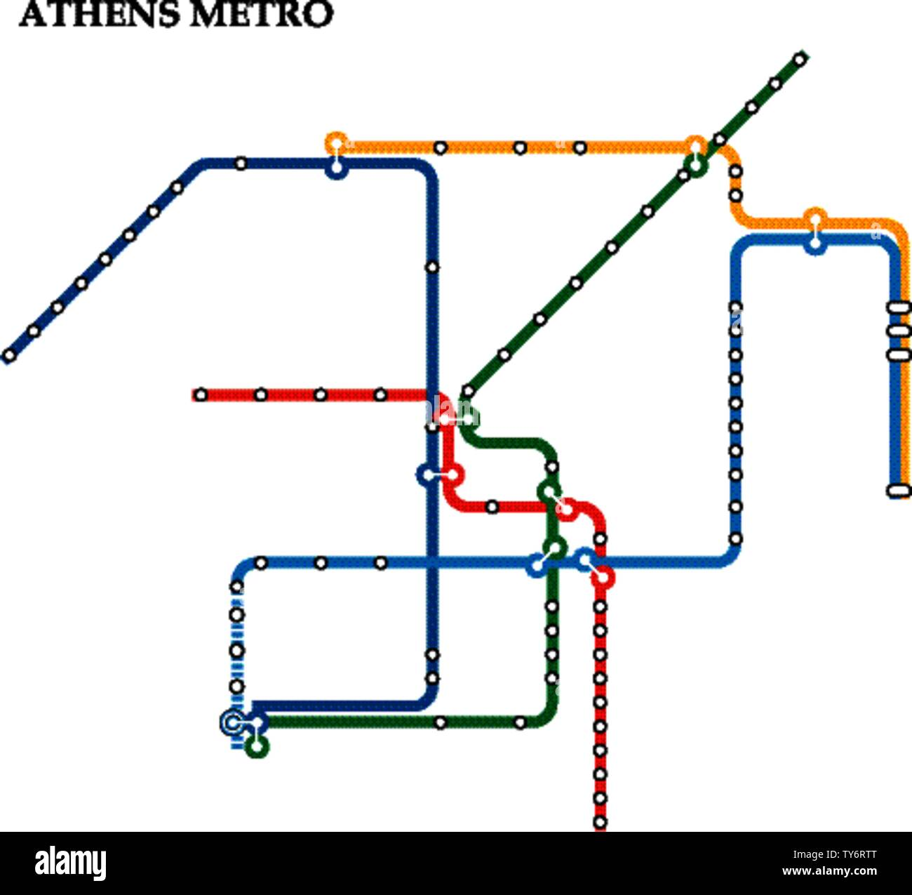 Subway Map Athens Greece.Athens Train Underground Subway Metro Stock Photos Athens Train