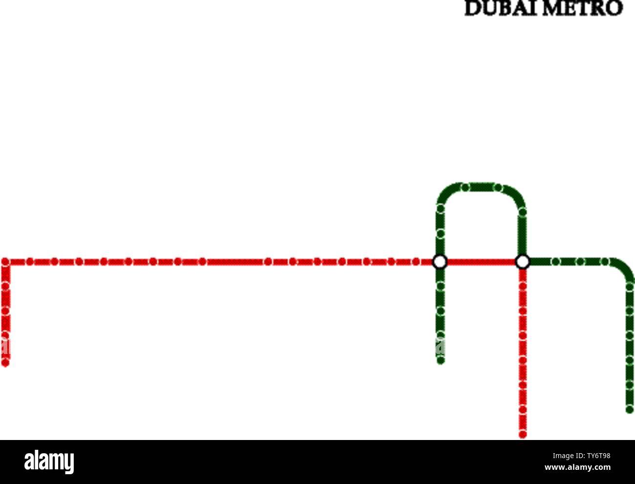 Dubai Subway Map.Dubai Metro Line Map Dubai Stock Photos Dubai Metro Line Map Dubai