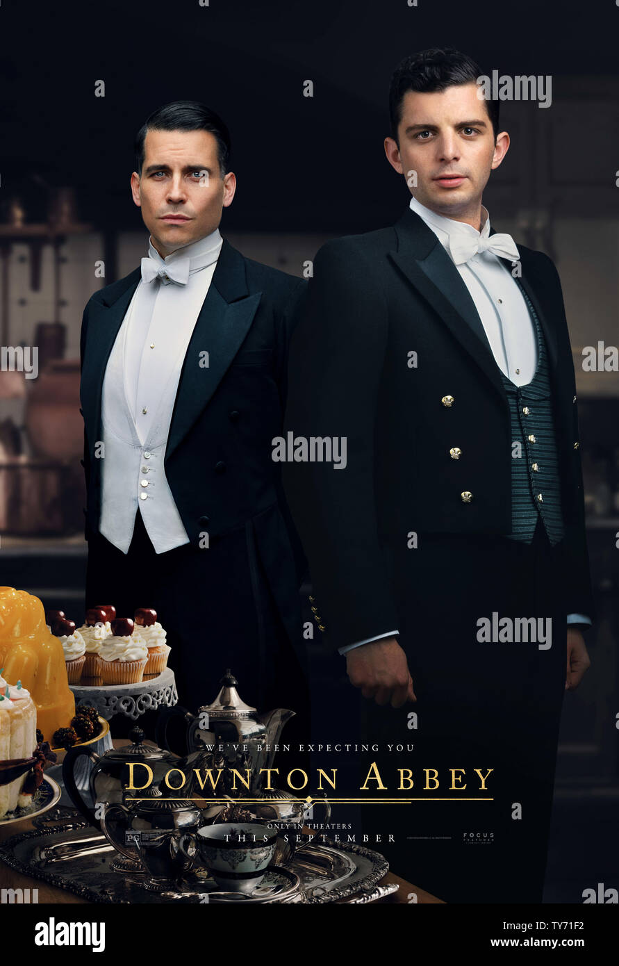 RELEASE DATE: September 20, 2019 TITLE: Downton Abbey STUDIO: Focus Features DIRECTOR: Michael Engler PLOT: Adapted from the hit TV series Downton Abbey that tells the story of the Crawley family, a wealthy owner of a large estate in the English countryside in the early 20th century. STARRING: ROBERT JAMES-COLLIER as Thomas Barrow, MICHAEL FOX as Andy. (Credit Image: © Focus Features/Entertainment Pictures) - Stock Image