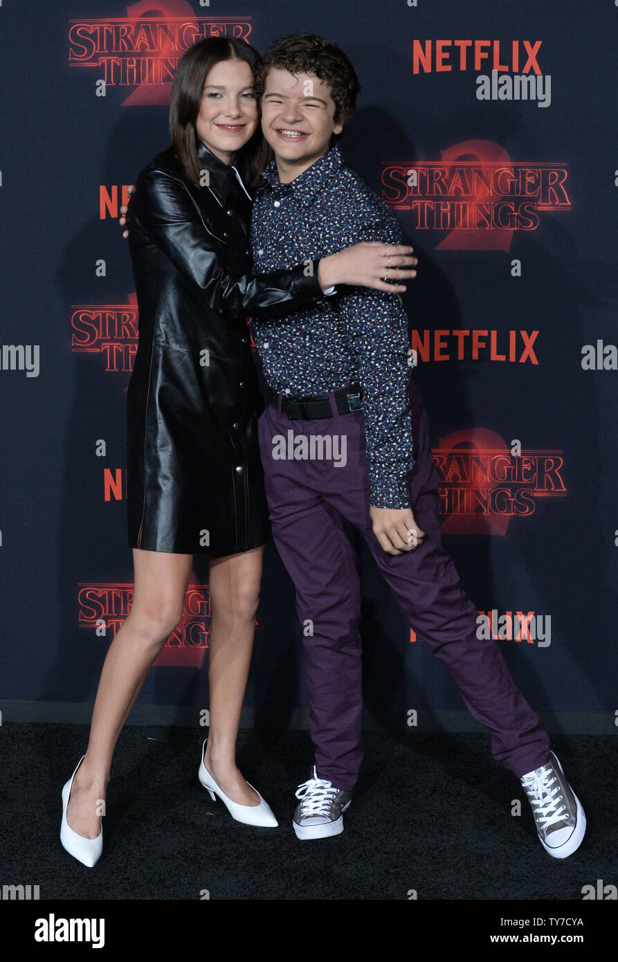 Cast Members Millie Bobby Brown And Gaten Matarazzo Attend The Premiere Of Netflix S Stranger Things Season 2 At The Regency Bruin Theatre In Los Angeles On October 26 2017 Storyline When A