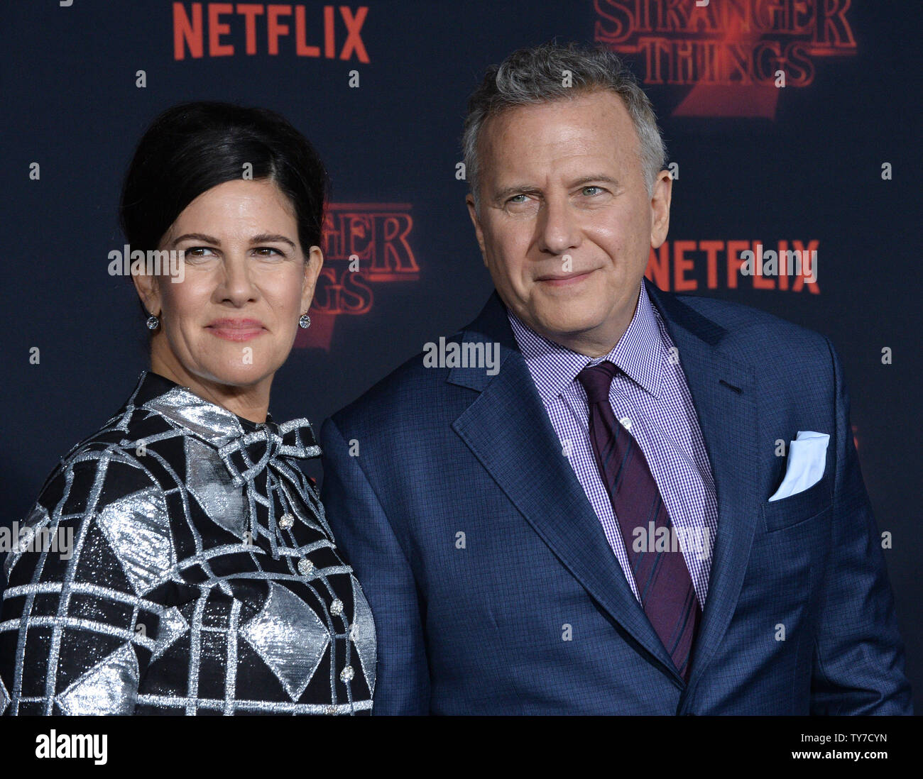 Cast member Paul Reiser and his wife Paula Reiser attend the