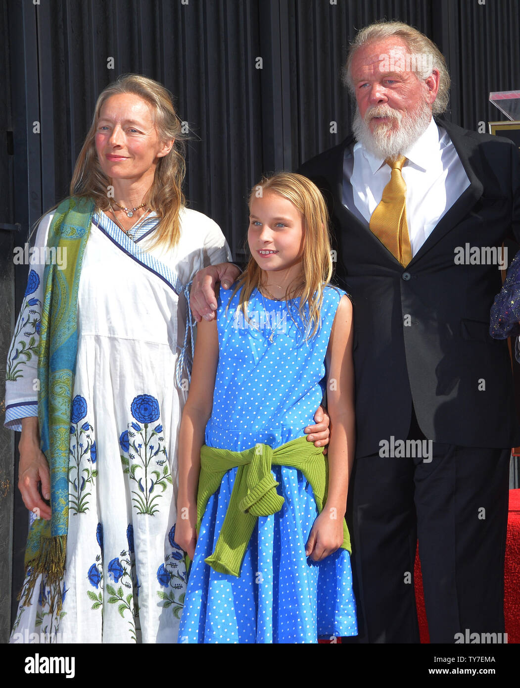 Actor Nick Nolte is joined by his wife Clytie Lane and ...