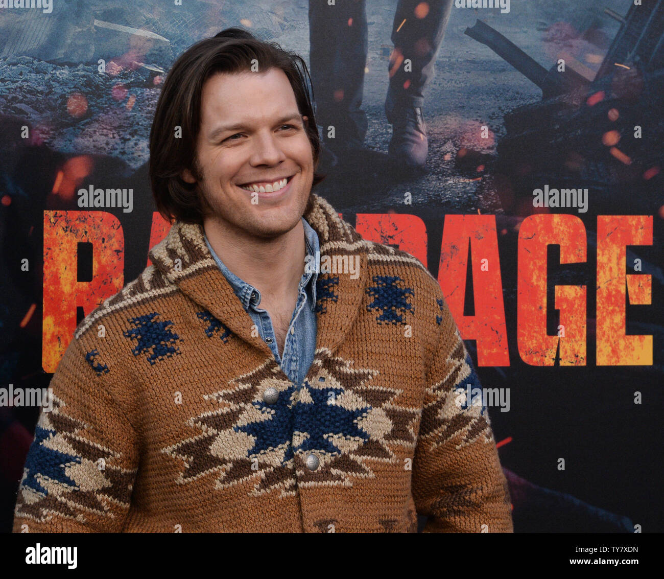 Cast member Jake Lacy attends the premiere of the sci-fi