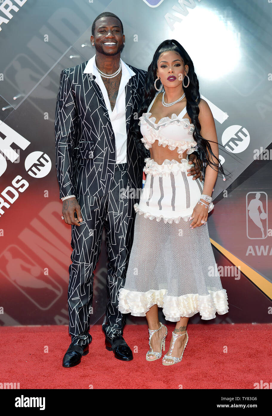 Rapper Gucci Mane (L) and his wife Keyshia Ka\u0027Oir attends
