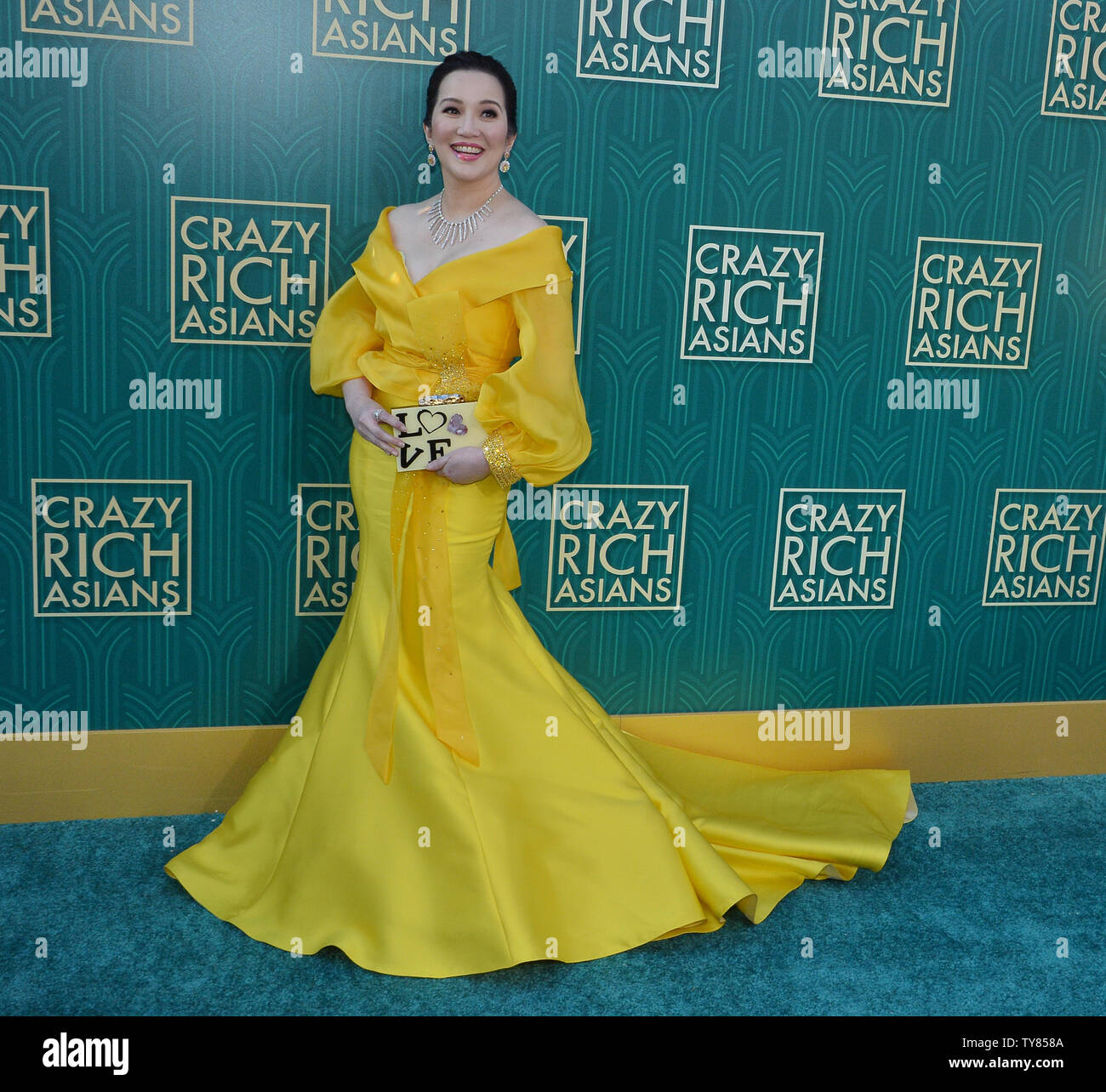 Cast member Kris Aquino attends the premiere of the motion picture comedy 'Crazy Rich Asians' at the TCL Chinese Theatre in the Hollywood section of Los Angeles on July 7, 2018. The story follows Rachel Chu (Wu), an American-born Chinese economics professor, who travels to her boyfriend Nick's (Henry Golding) hometown of Singapore for his best friend's wedding. Before long, his secret is out: Nick is from a family that is impossibly wealthy, he's perhaps the most eligible bachelor in Asia, and every single woman in his ultra-rarefied social class is incredibly jealous of Rachel and wants to br - Stock Image