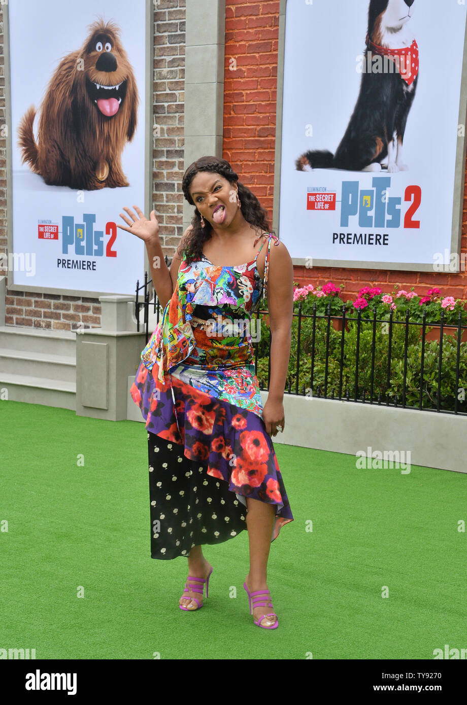 Cast Member Tiffany Haddish The Voice Of Daisy In The Animated Comedy The Secret Life Of Pets 2 Attends The Premiere Of The Film At The Regency Village Theatre In The Westwood