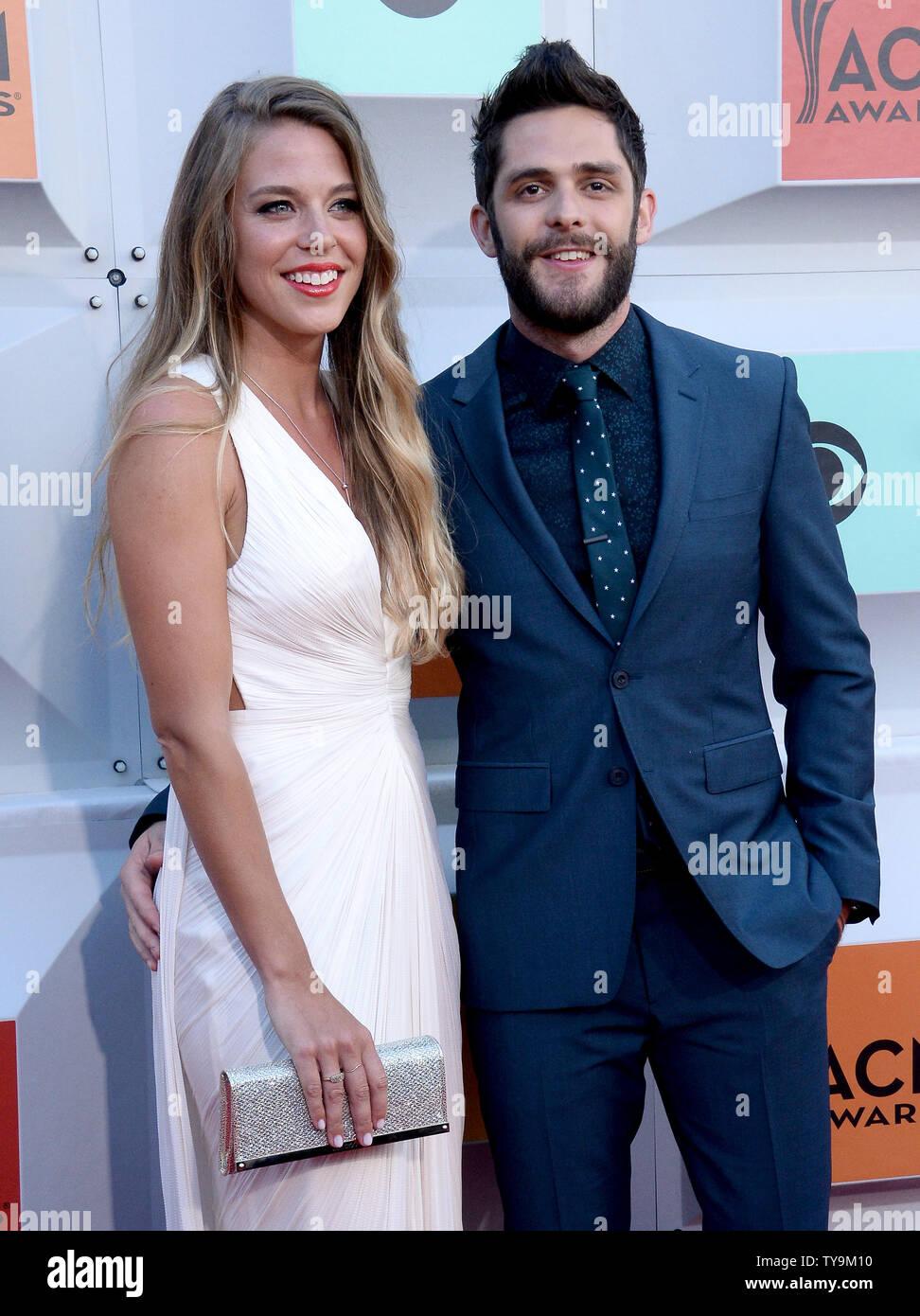 Singer Thomas Rhett R And Lauren Gregory Attend The 51st Annual