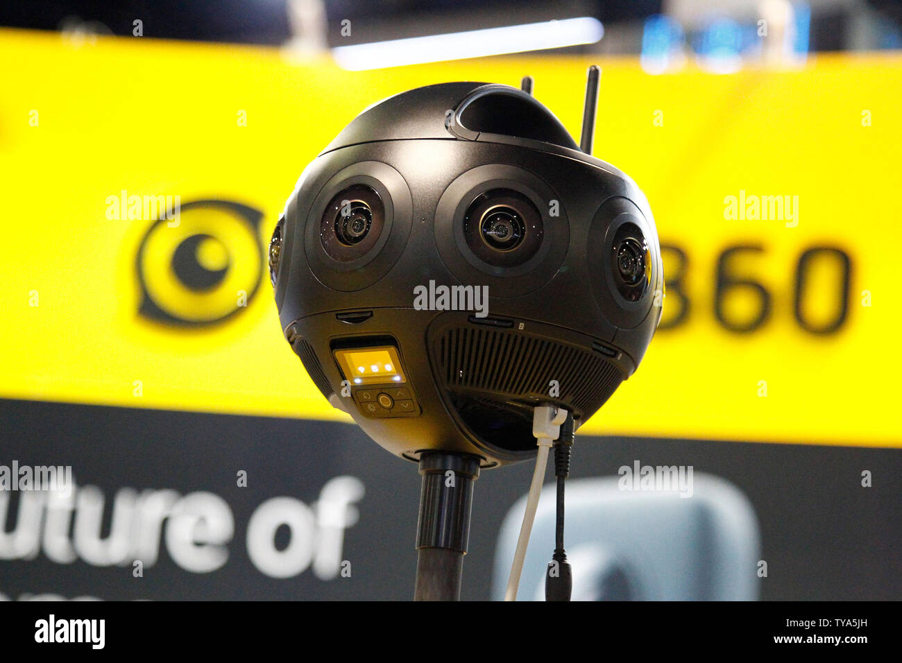 A close up of the new Insta360 Titan Virtual Reality 360