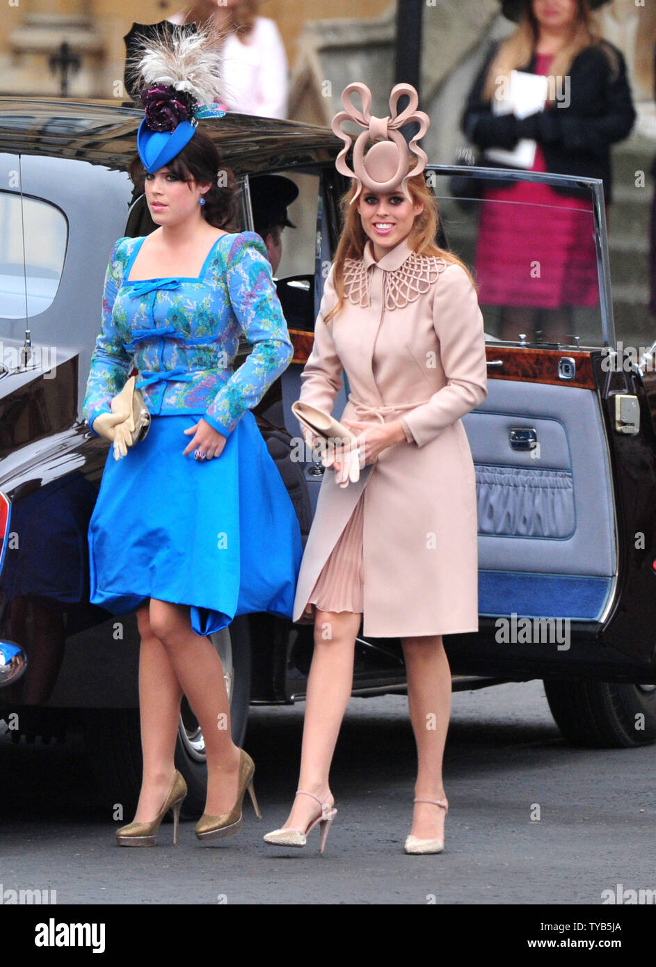 Princess Eugenie And Princess Beatrice Arrive For The Royal