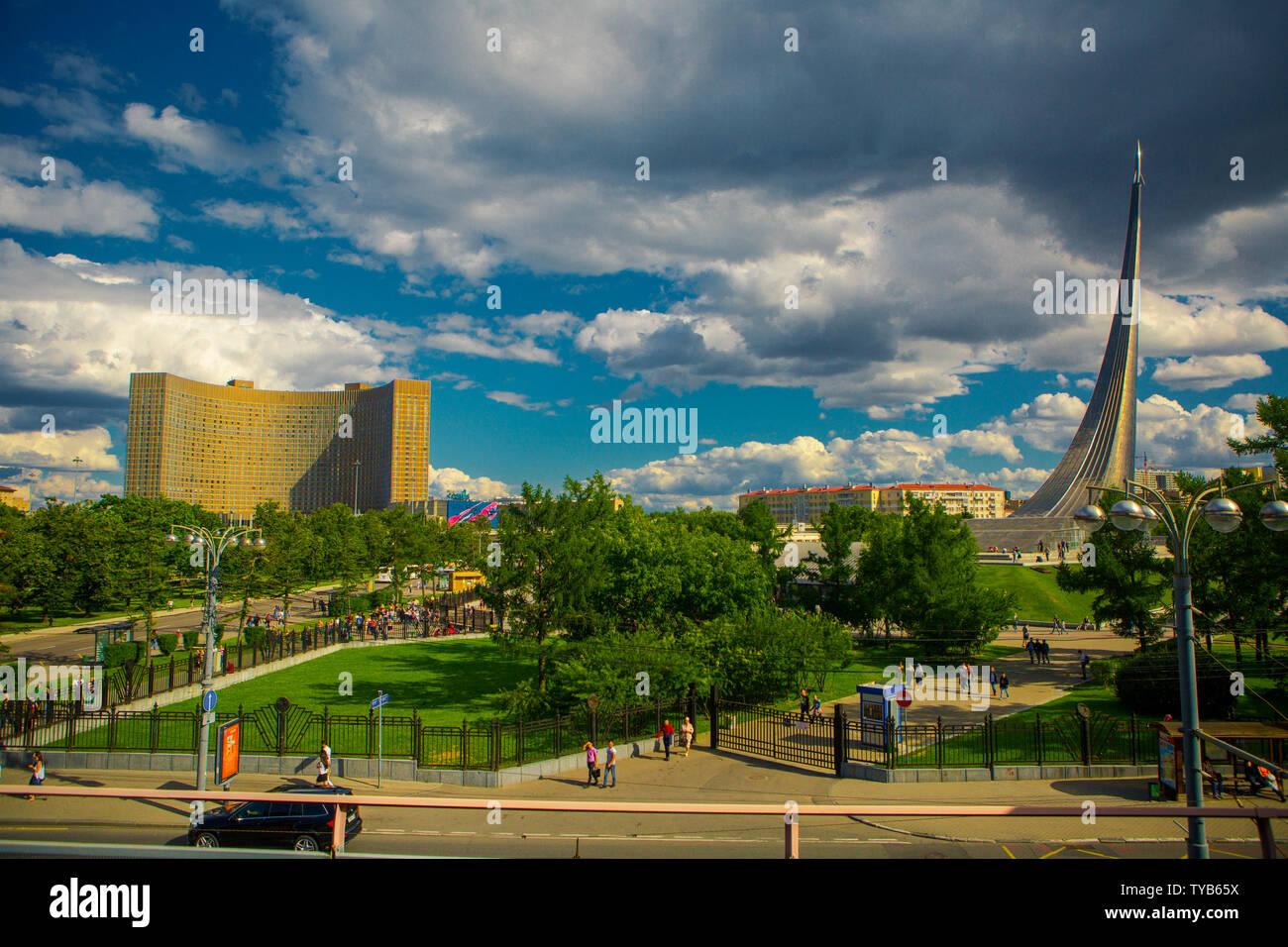 Hotel 'Cosmos'. Metro VDNH. Moscow - Stock Image
