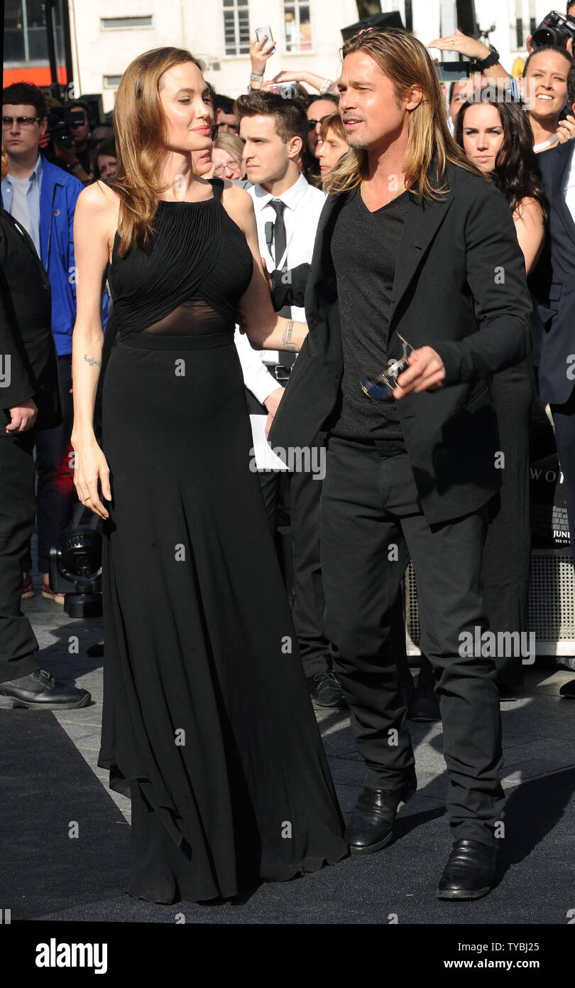 American Actress Angelina Jolie And American Actor Brad Pitt