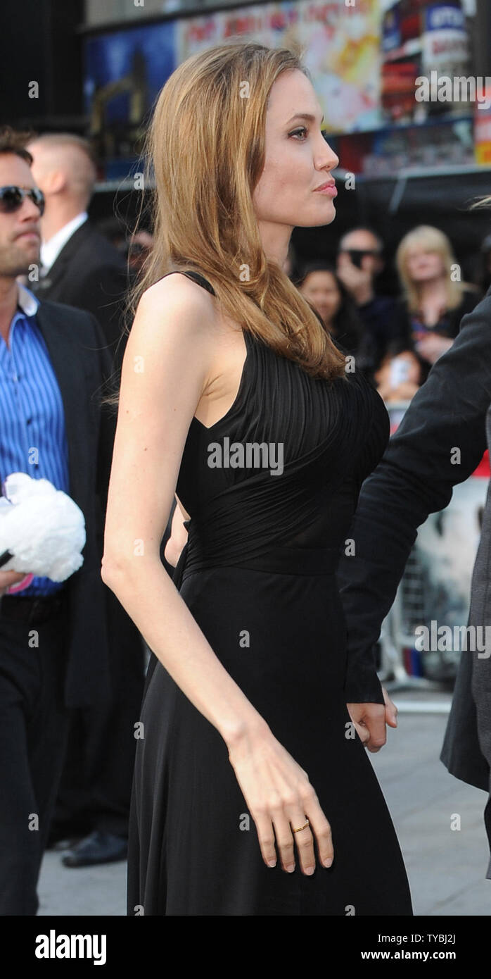 American Actress Angelina Jolie Attends The World Premiere