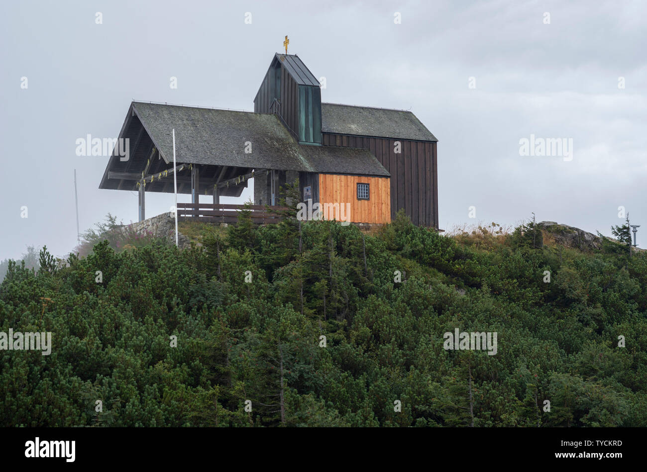 Hochfelln mountain, Tabor chapel, Hochfelln, Chiemgau, Upper Bavaria, Bavaria, Bavarian Alps, Germany - Stock Image