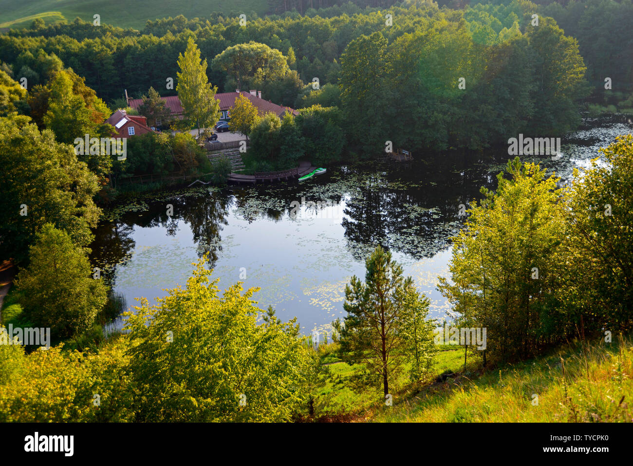 Lake near Rutka, Suwalki landscape park, Podlasie, Poland - Stock Image