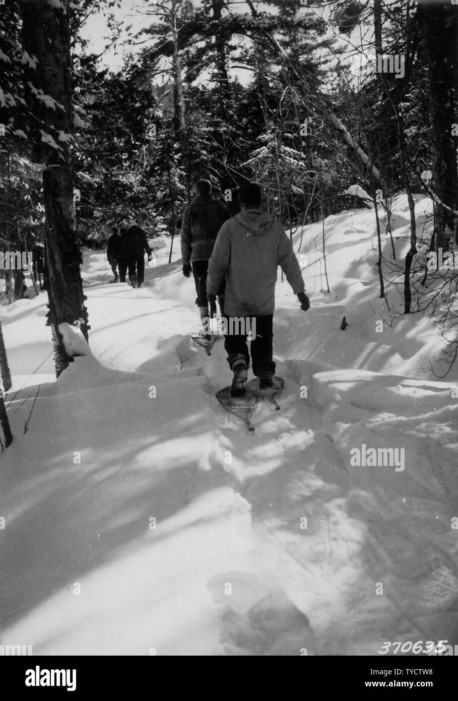 Photograph of One of the Portage Trails; Scope and content:  Original caption: On a return trip a well beaten trail makes the trip much easier. This view was taken on one of the portage trails. Stock Photo