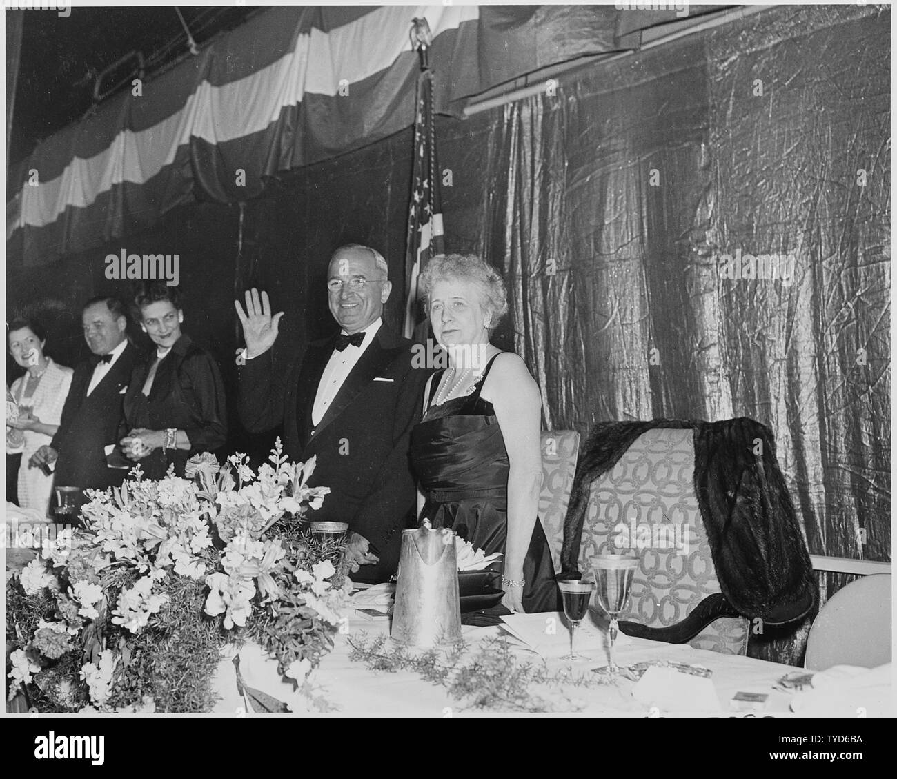 President Harry Truman-Bess with Prince Bernhard and Queen Juliana 1952 Photo