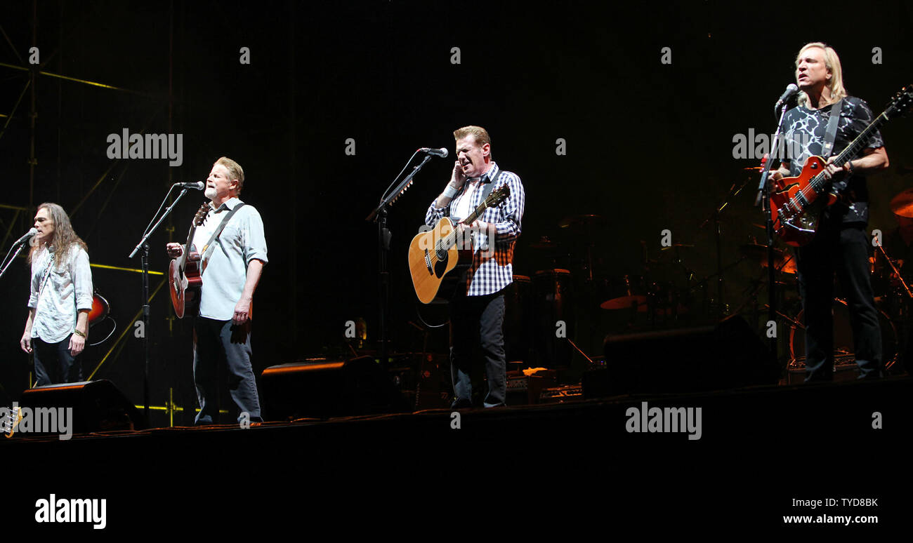 From L to R) Timothy B  Schmit, Don Henley, Glenn Frey and