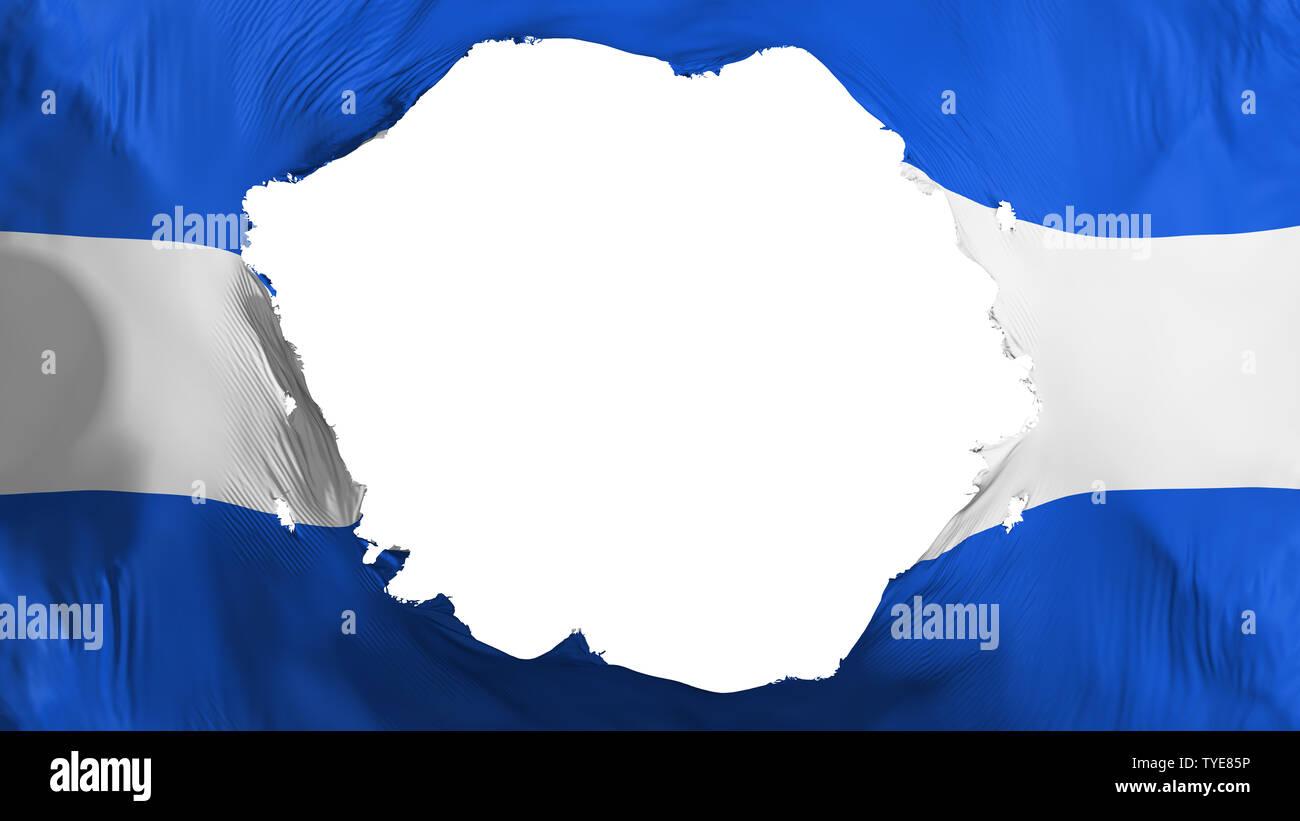 Broken El Salvador flag - Stock Image