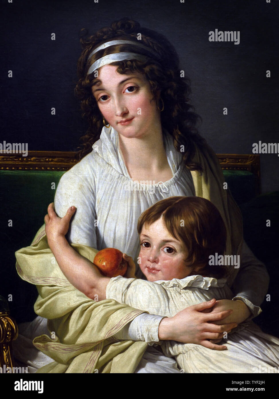 Madame Boyer Fonfrede and her son 1796 Francois Andre Vincent 1746-1816 France, French, Stock Photo
