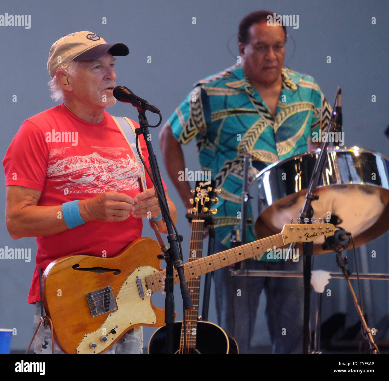 Jimmy Buffett and the Coral Reefer Band perform at the